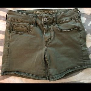 Olive Midi Shorts